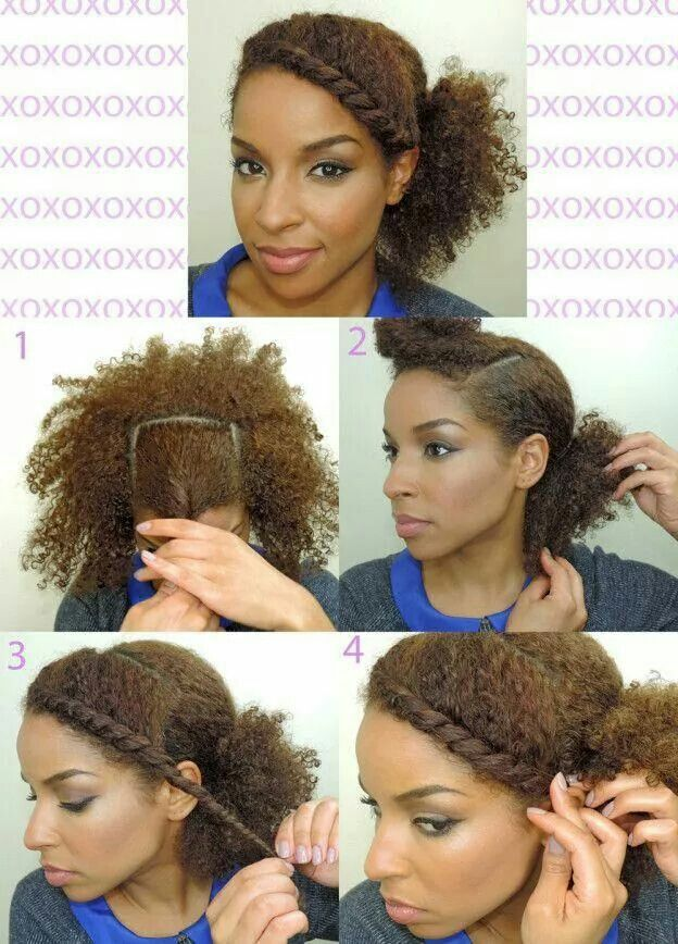 Quick Natural Style Natural Hair Styles Curly Hair Styles
