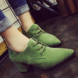 SHARE & Get it FREE | Chunky Heel Tie Up Pointed Toe PumpsFor Fashion Lovers only:80,000+ Items • FREE SHIPPING Join Twinkledeals: Get YOUR $50 NOW!