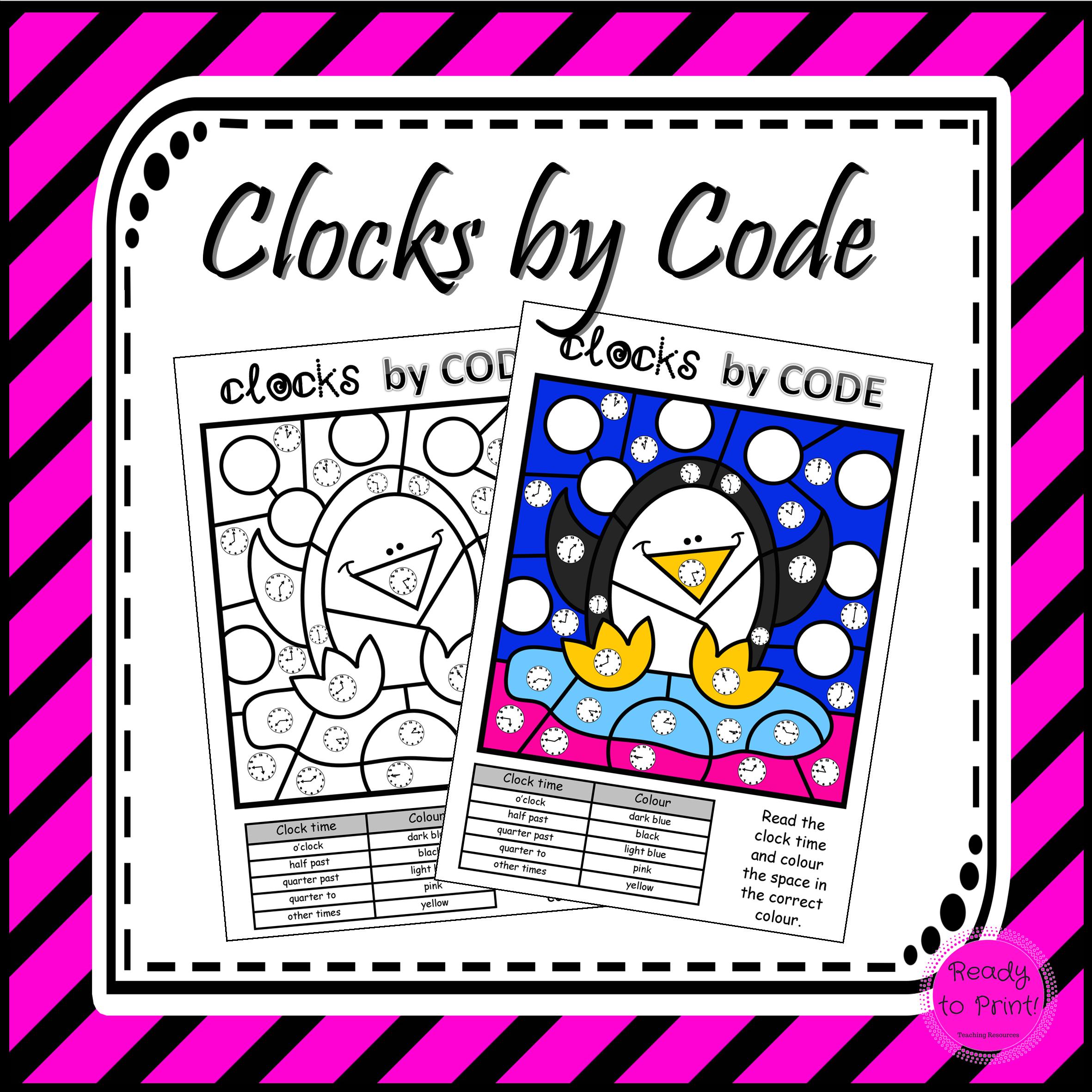 Students Identify O Clock Half Past Quarter Past