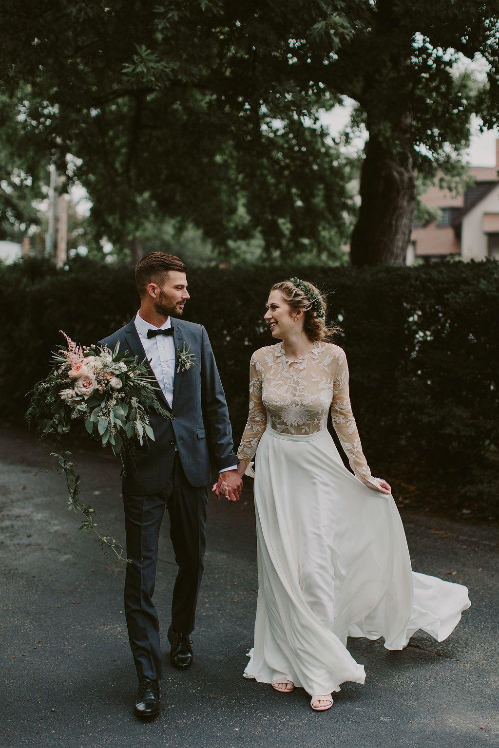 Canadian wedding with greenery galore photo by brandon scott