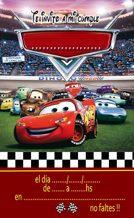 Invitacion Cars Tarjetas De Cumpleaños Cars Crear
