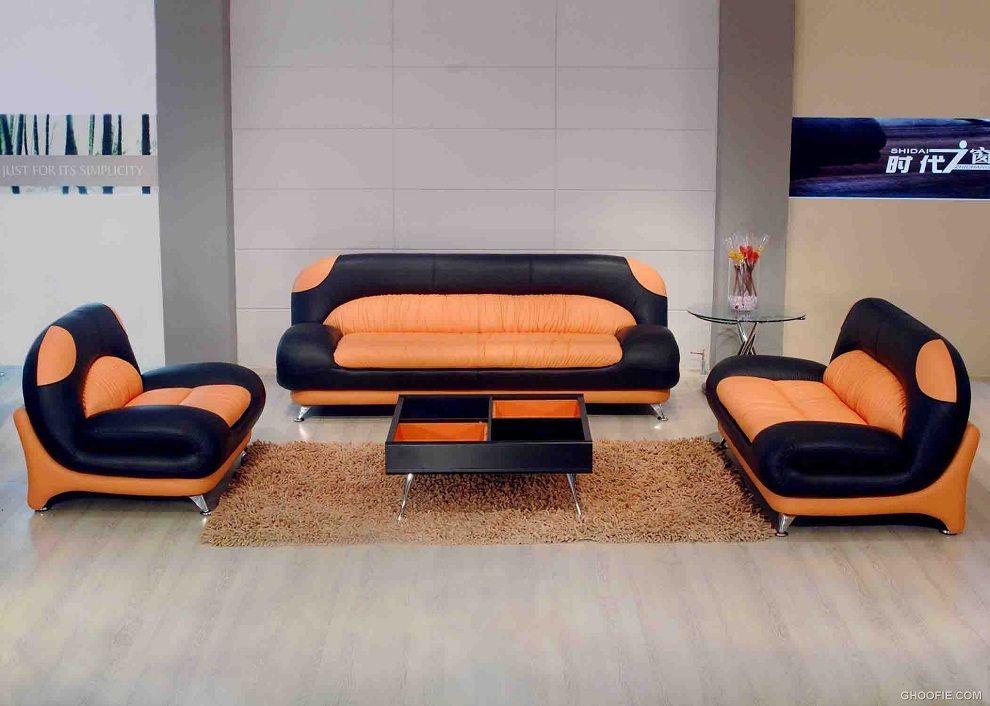 Pin by Sofacouchs on Living Room Sofa | Sofa, Leather sofa, Orange ...