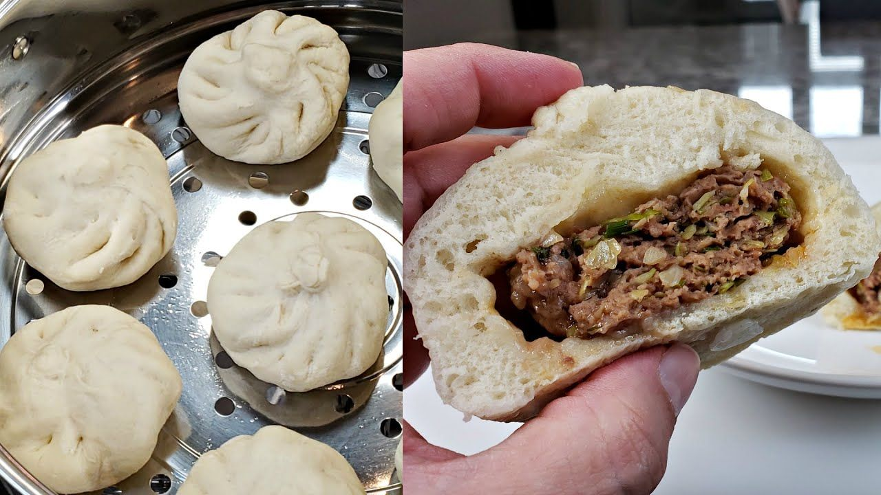 Easy Steamed Buns Recipe Beef Steamed Buns Recipe Homemade Baozi Recipe Youtube Buns Recipe Homemade Baozi Recipe Bun Recipe