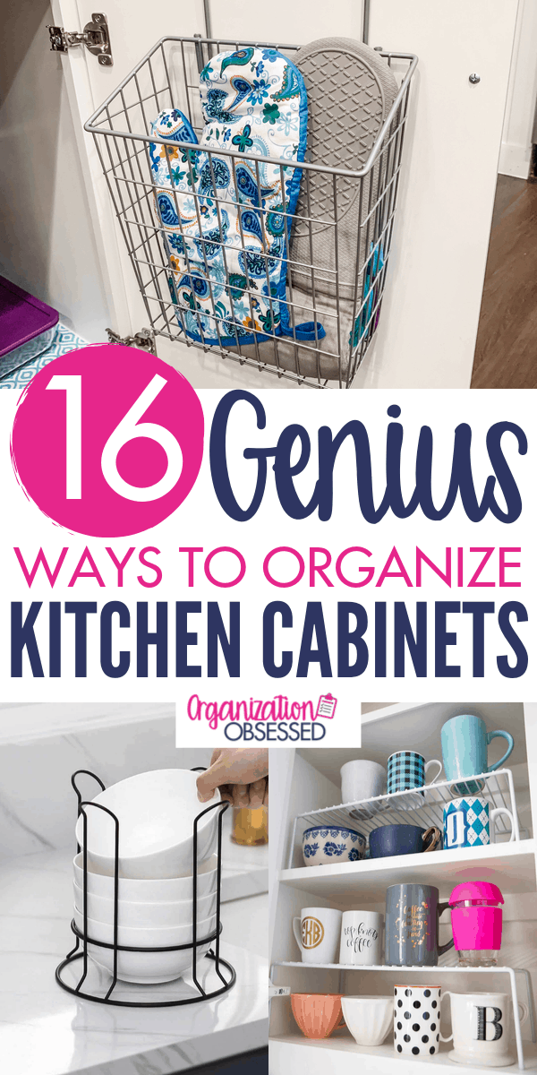 Photo of 16 Genius Ways To Organize Kitchen Cabinets – Organization Obsessed