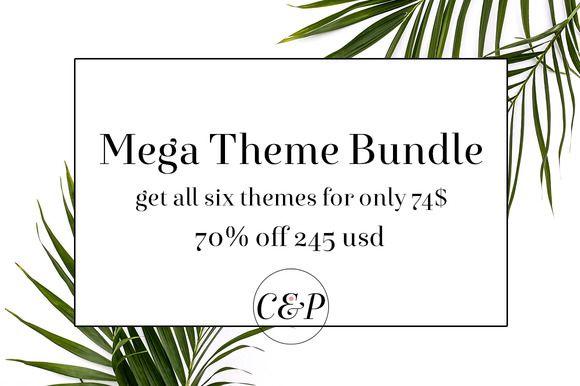 70% Off !!! Mega Theme Bundle by CandiesnPixels on @creativemarket