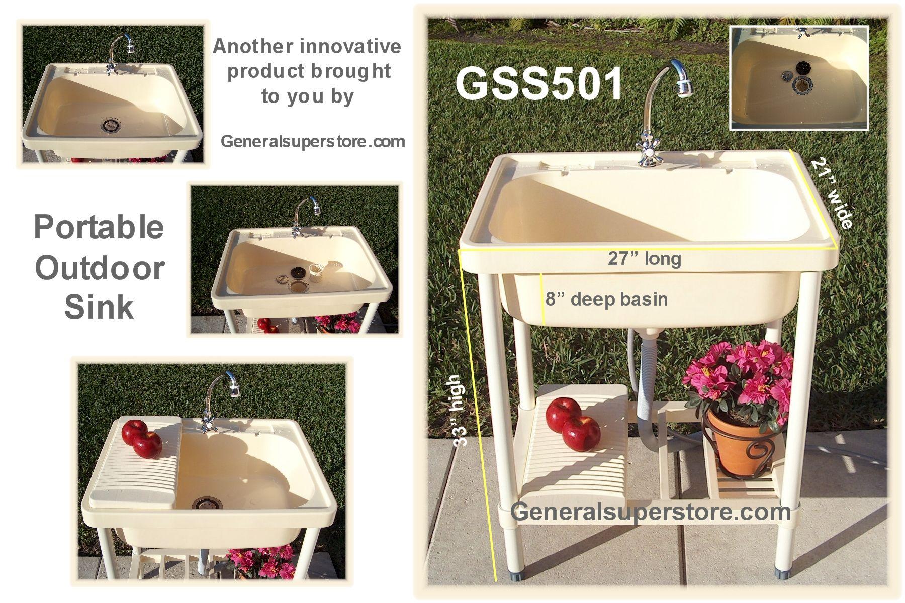 Portable Outdoor Sink Garden Camp Kitchen Camping RV