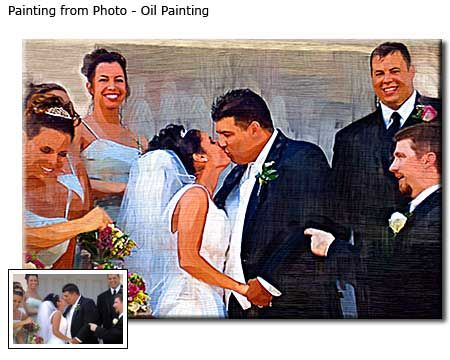 Custom Oil Painting Wedding Portrait From Photo Cool Anniversary Gift Idea