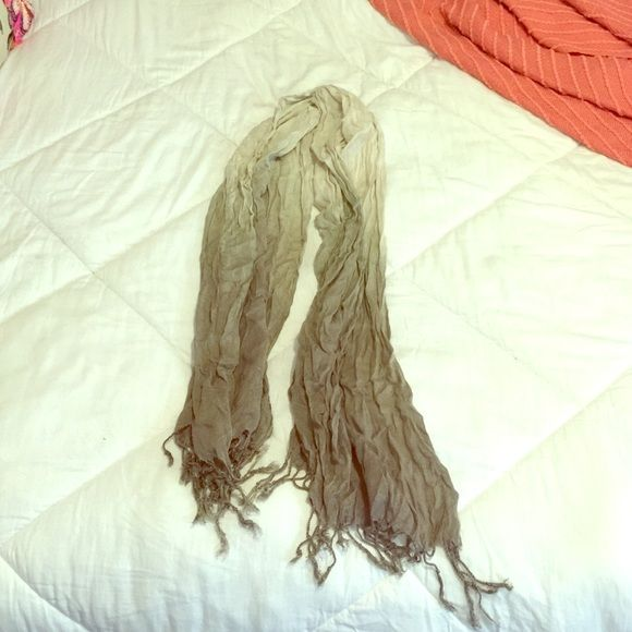 Beige ombre scarf Lightweight ombre scarf with fringe detail Accessories Scarves & Wraps