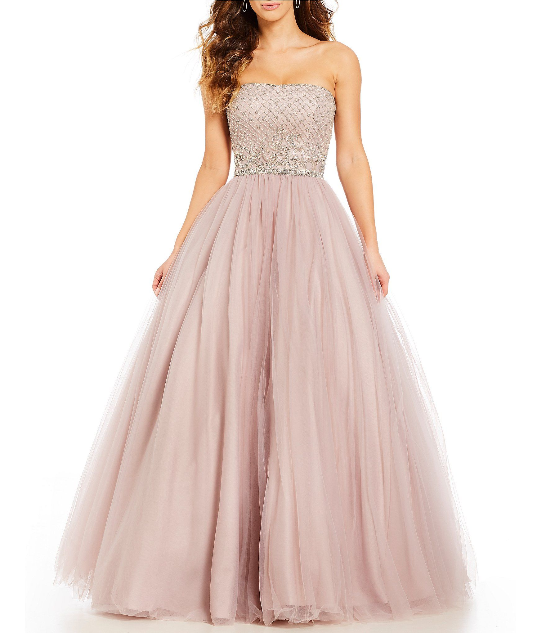 ca937c27c47 Shop for Coya Collection Strapless Beaded-Bodice Ball Gown at Dillards.com.  Visit Dillards.com to find clothing