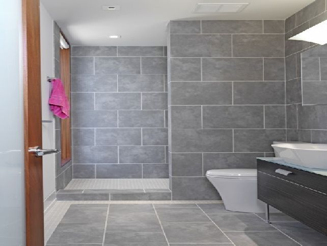 Get inspired with these gray bathroom decorating ideas - Accent color for gray and white bathroom ...