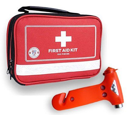 Always Prepared First Aid Medical Kit In Red Fabric Bag With Reflective Strip 100 Pieces You Can Find More Medical Kit First Aid Kit Emergency Sewing Kit