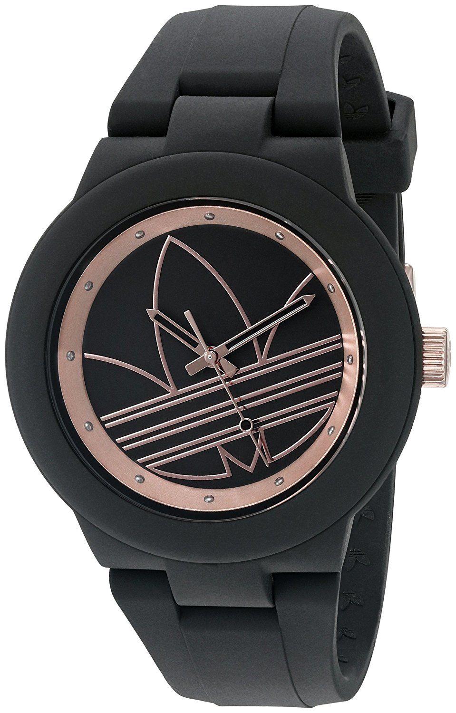 2db23b9cdc0 adidas Women s ADH3086 Aberdeen Analog Display Analog Quartz Black Watch --  Be sure to check