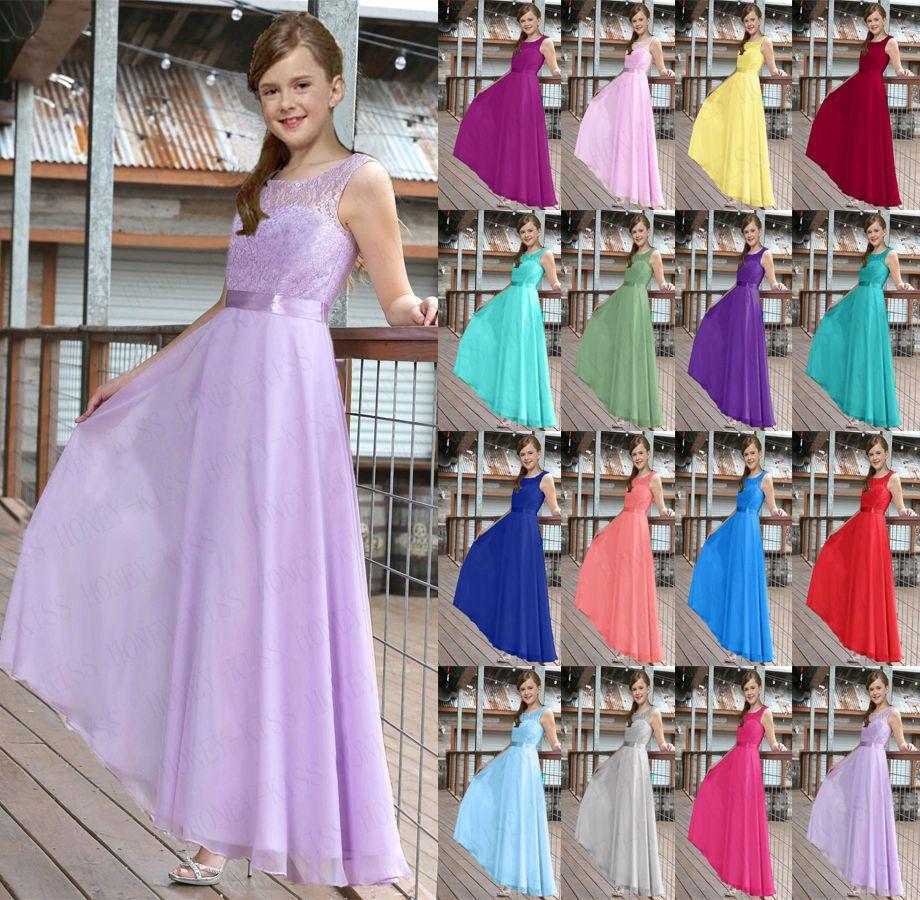 New Bridesmaid Dress Junior Flower Girl Dresses Princess Pageant 2 ...