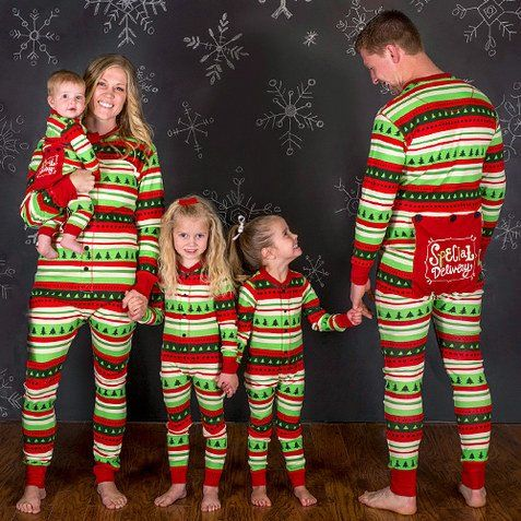 4fc34650ba Lazy One Youth   Adult Special Delivery Flapjack Matching Christmas Pj s - Family  Matching Christmas Pajamas - Christmas Morning Pajamas - Ruffles   Bowties  ...