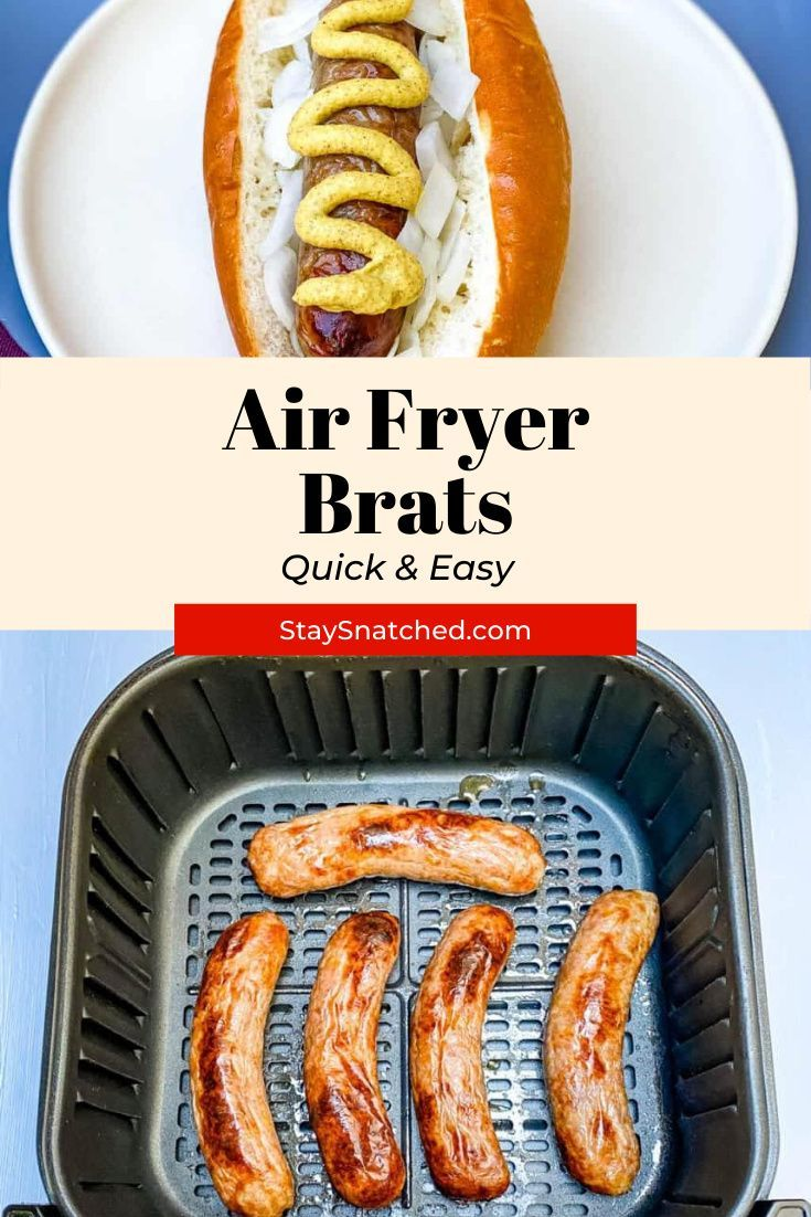 Easy Air Fryer Brats in 2020 Recipes, Game day food