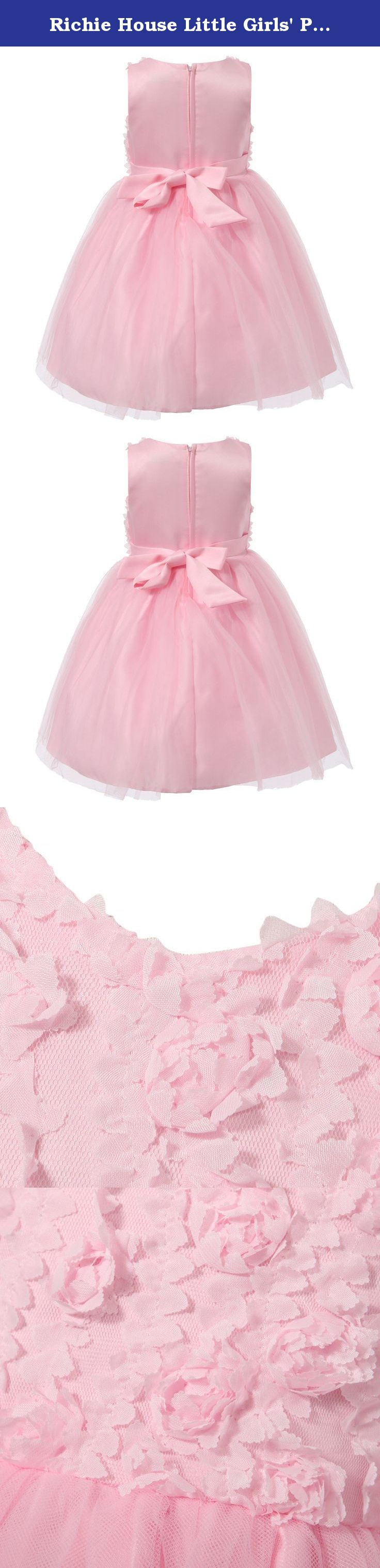 Richie house little girlsu princess dress with flowers rha