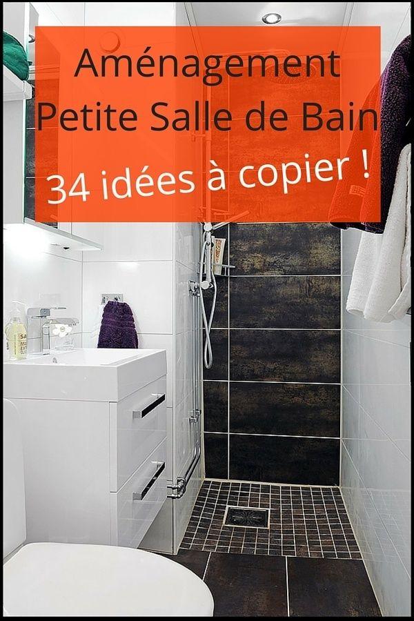 1000 images about salle de bain on pinterest black tiles design and tile - Salle De Bain Moderne Petit Espace