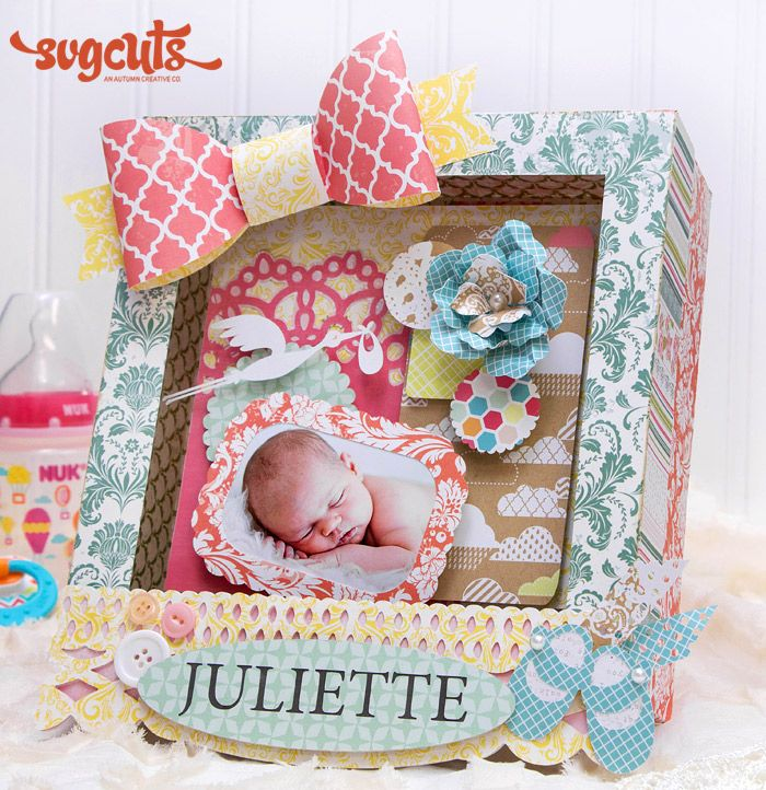 Baby Shadow Box by Kathy Helton Blog Baby