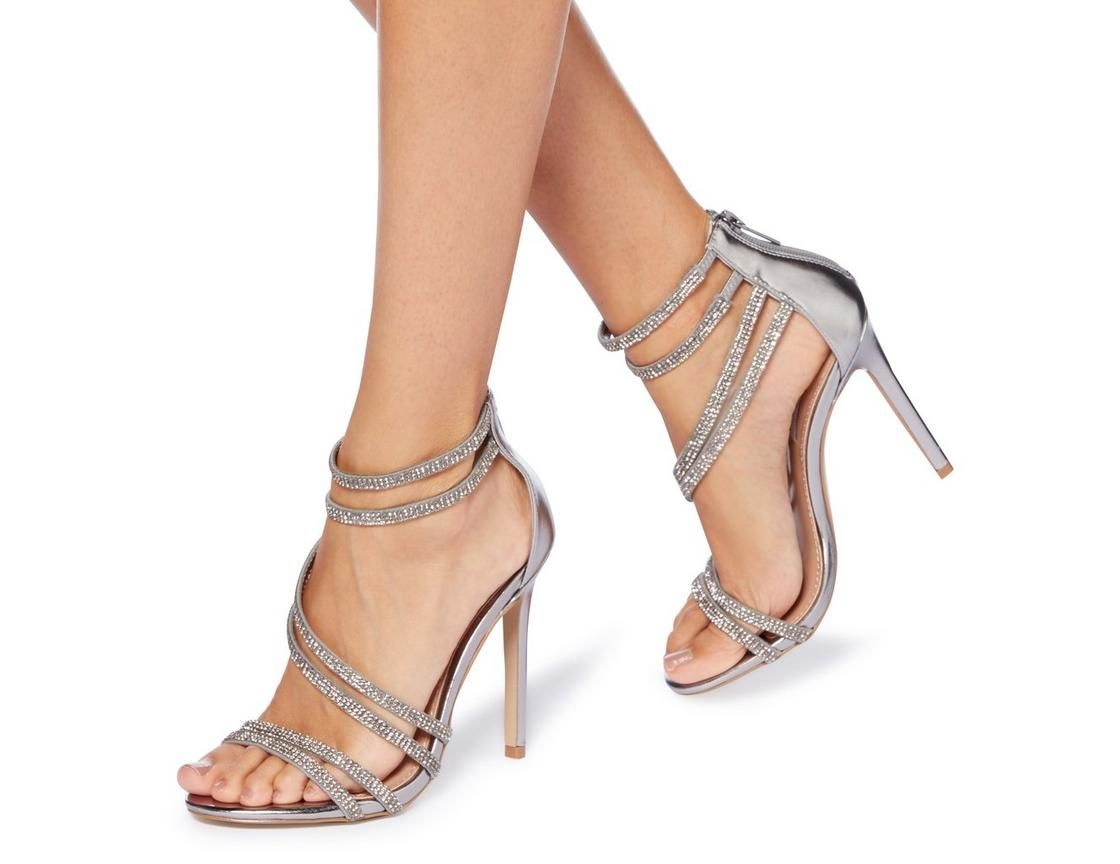 a725c8e92430 Dazzle over party season with this Steve Madden Sweetest SM sparkly sandal.  Showcasing a high