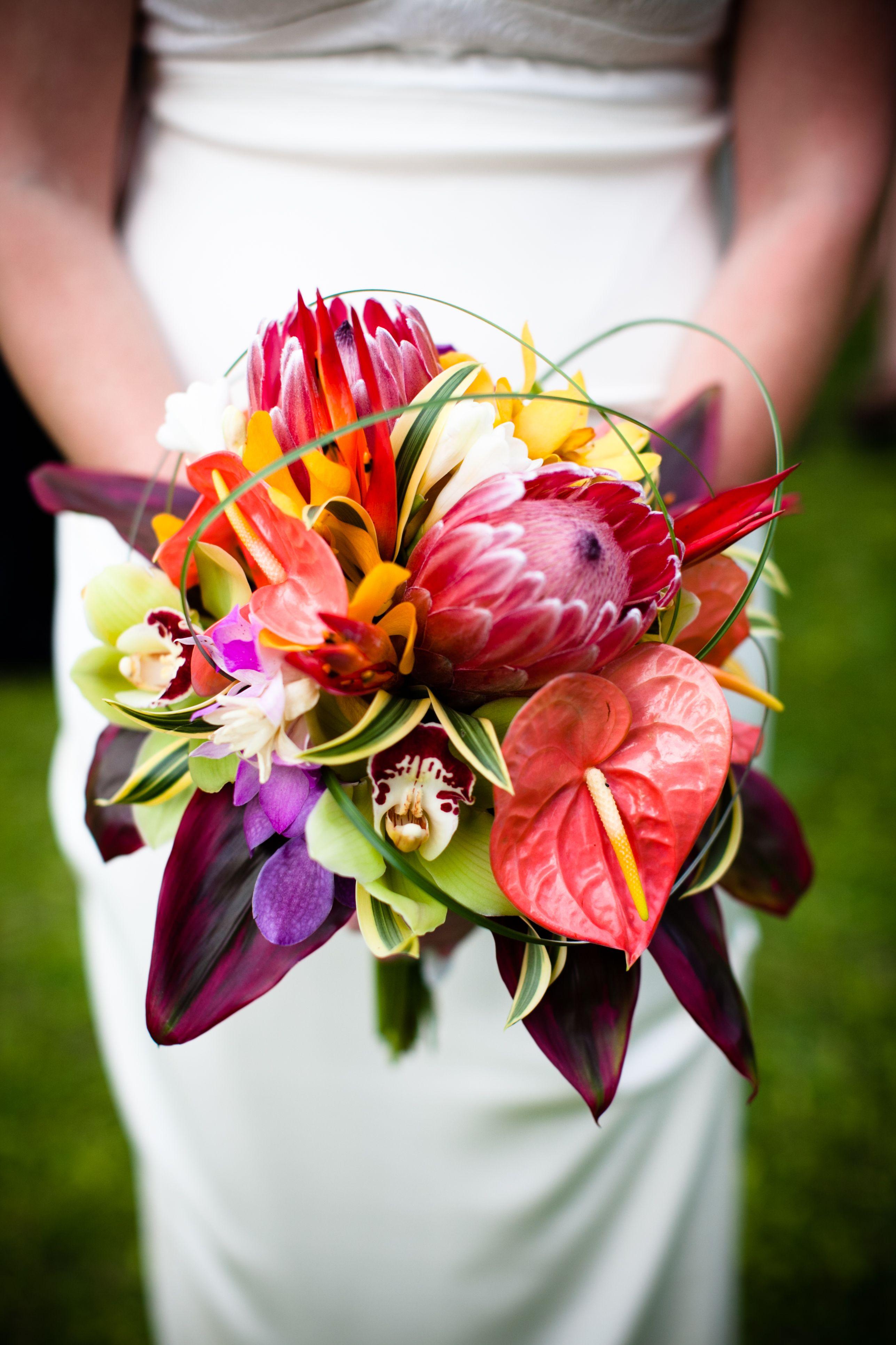 Tropical Bouquet Makena Maui Mauiwedding Tropical Bouquet