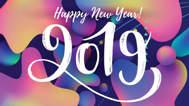 cute trendy new year 2019 background image