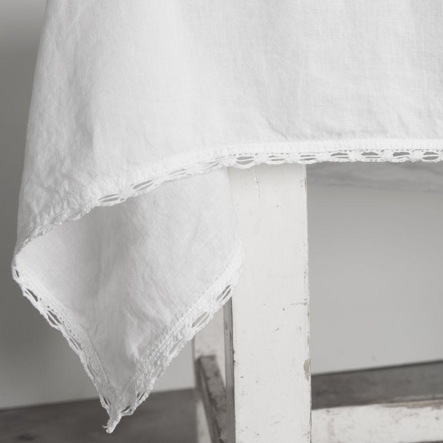 Cluny linen tablecloth