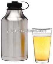 60 oz Double wall stanless steel vacuum beer keg growler