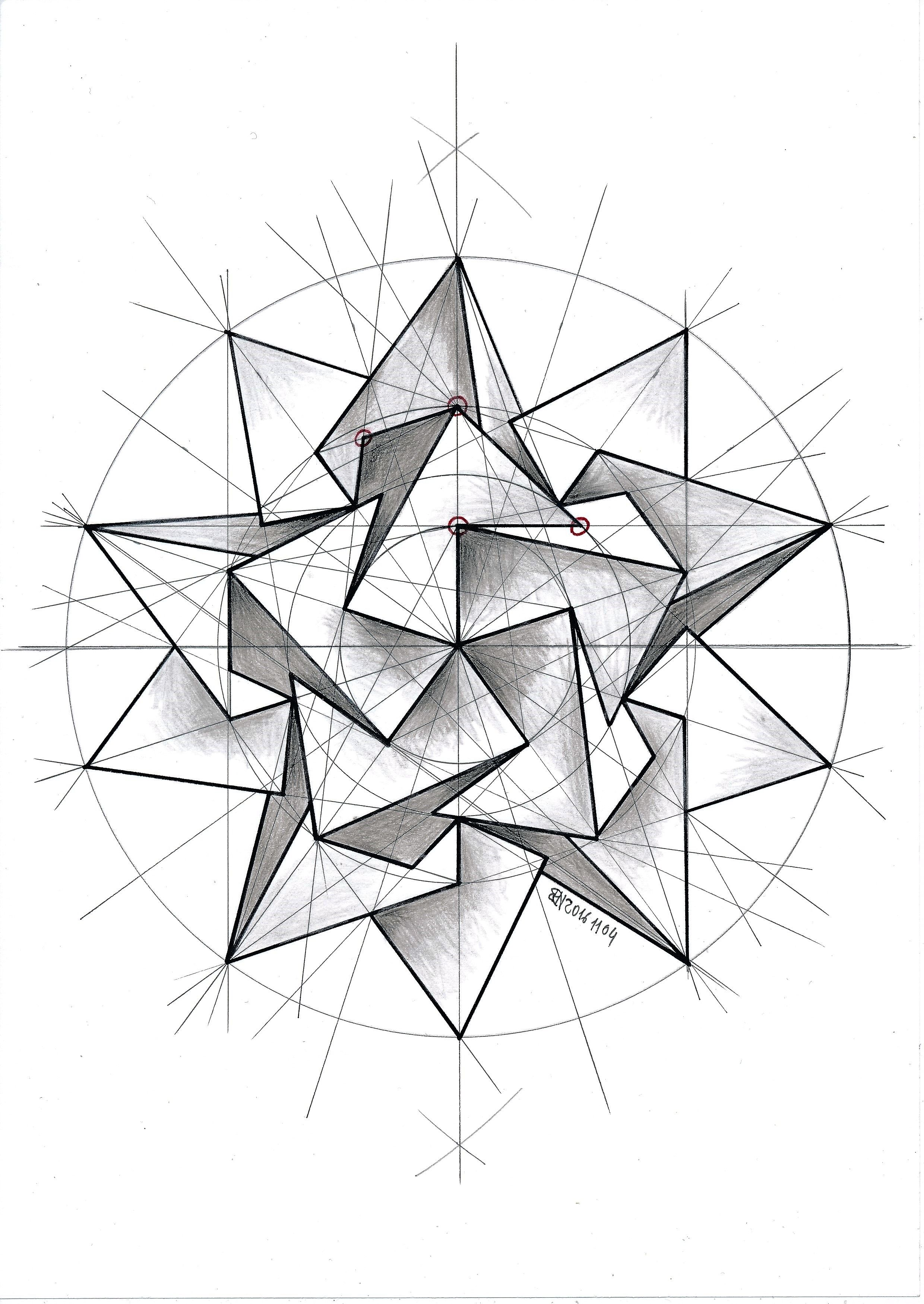 #polyhedra #solid #geometry #symmetry #pattern #handmade #