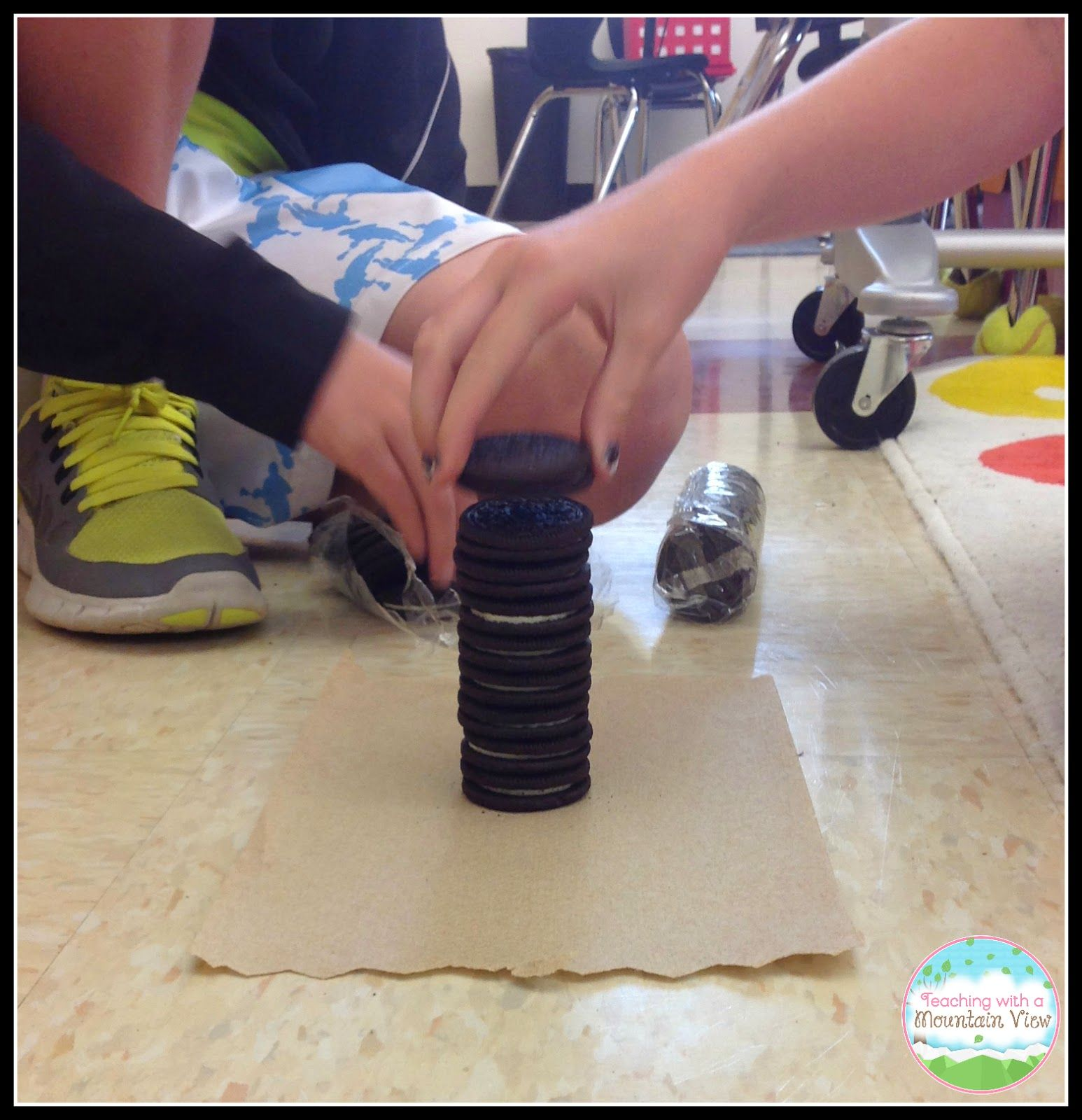 Oreo Stacking Contest For Mean Median Mode Lesson With