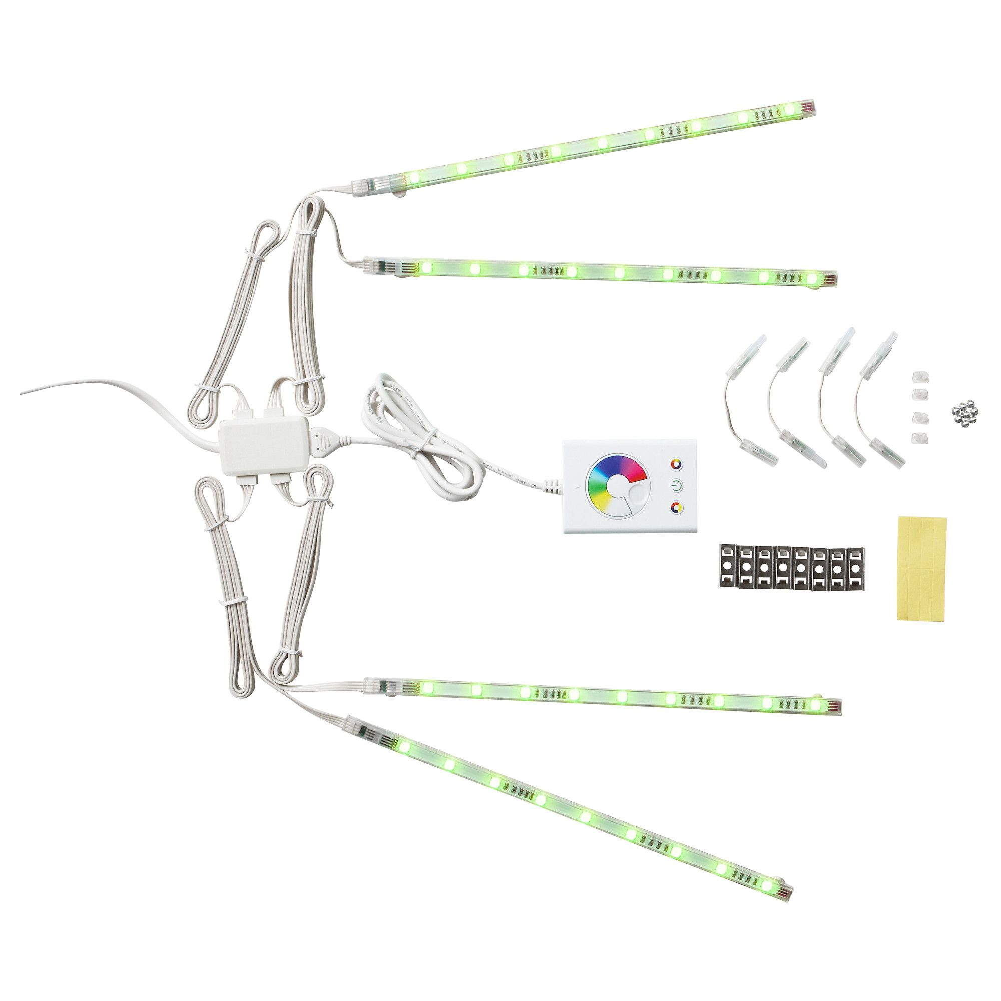 Ikea Dioder Multicolor Led 4 Piece Light Strip Set