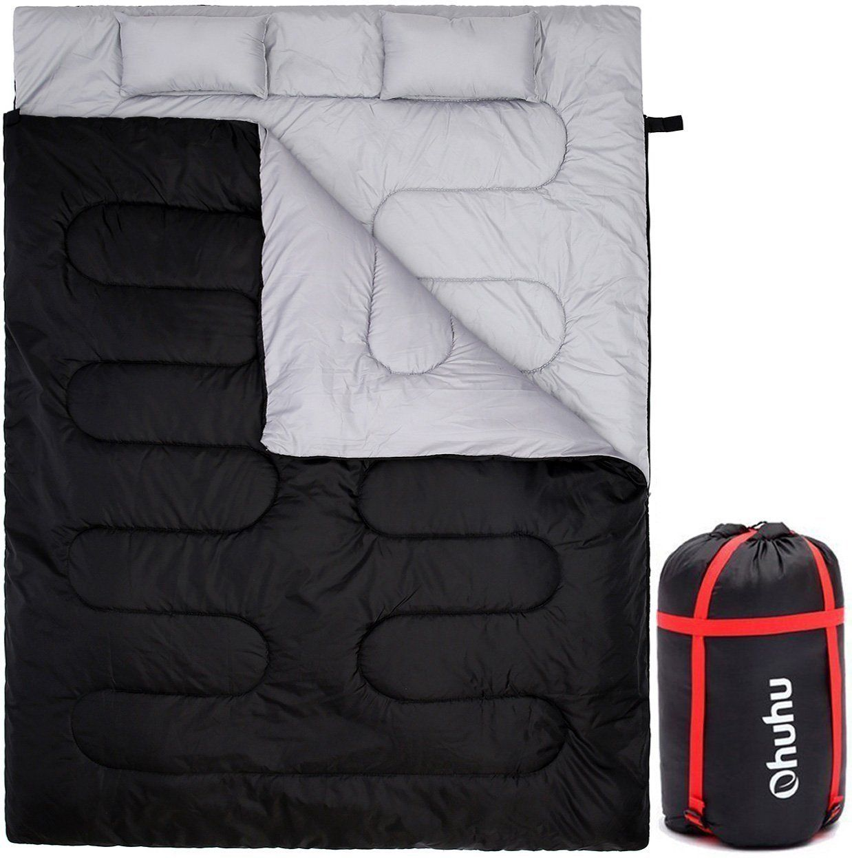 Double Sleeping Bag With 2 Pillows And A Carrying
