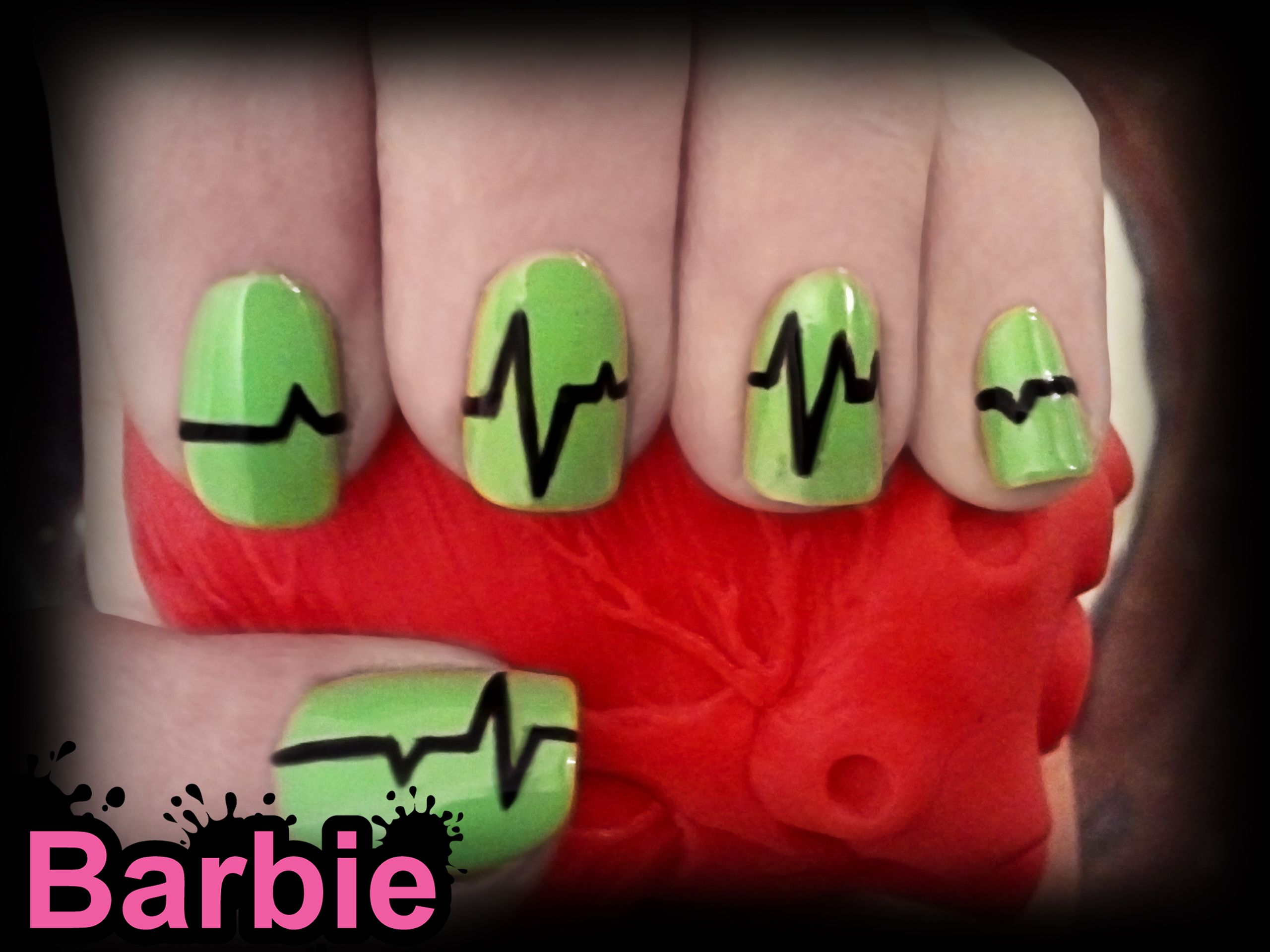 E.K.G Nails - Nail Design of the EKG graph, a machine used to ...