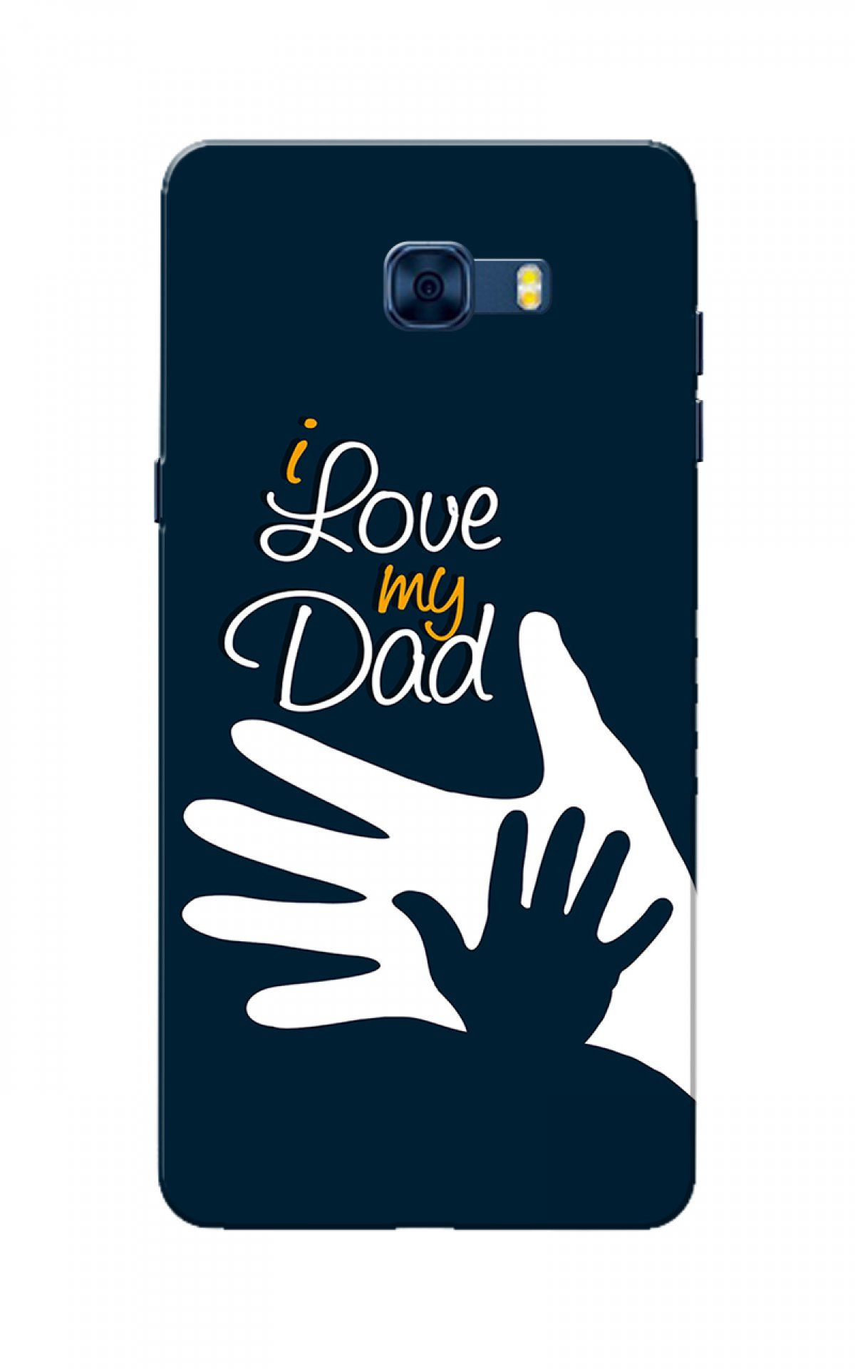 finest selection 9c82c b31db Caseria Galaxy C7 Pro Case, I Love My Dad Navy Blue Slim Fit Hard ...