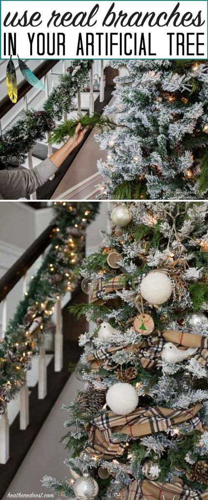 Spruce Up Your Sparse Christmas Tree With Tree Branches Fake Christmas Trees Christmas Tree Decorations Christmas Diy