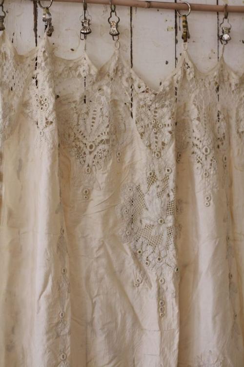 Antique Cream Battenberg Lace Curtains Shabby Chic Curtains Shabby Chic Bedding Shabby Chic Homes