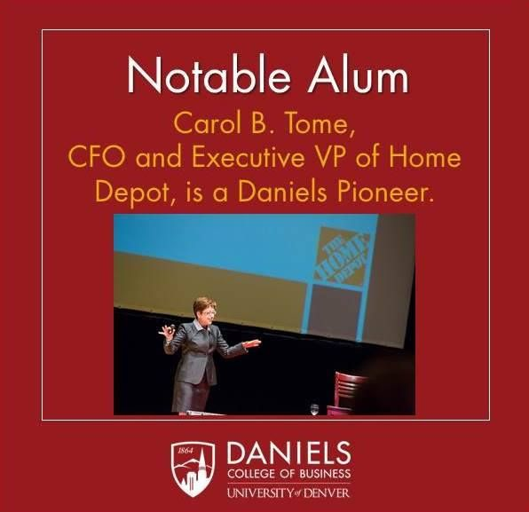 Did you know CFO of Home Depot, Carol Tome, is a Daniels