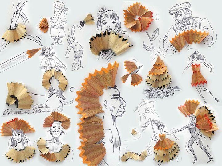Composiciones Entre Dibujo Y Elementos Reales Creative Art Art Whimsical Illustration