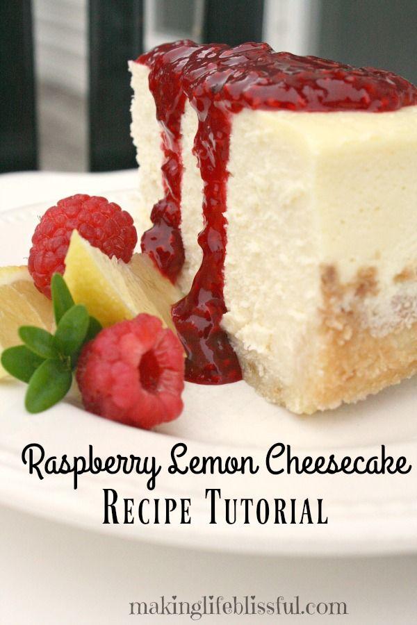 Lemon Raspberry Cheesecake #cheesecakefactoryrecipes