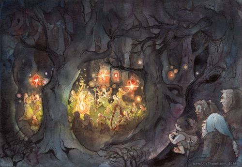 the-forest-of-the-faun: Elvish Feast in Mirkwood by...