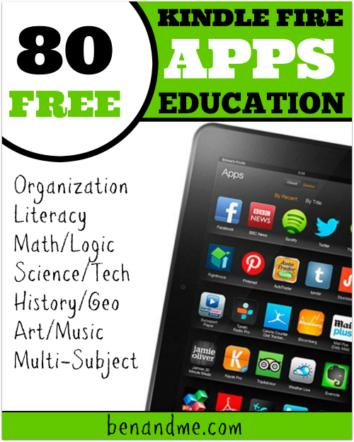80 FREE Educational Apps for Kindle Fire Free