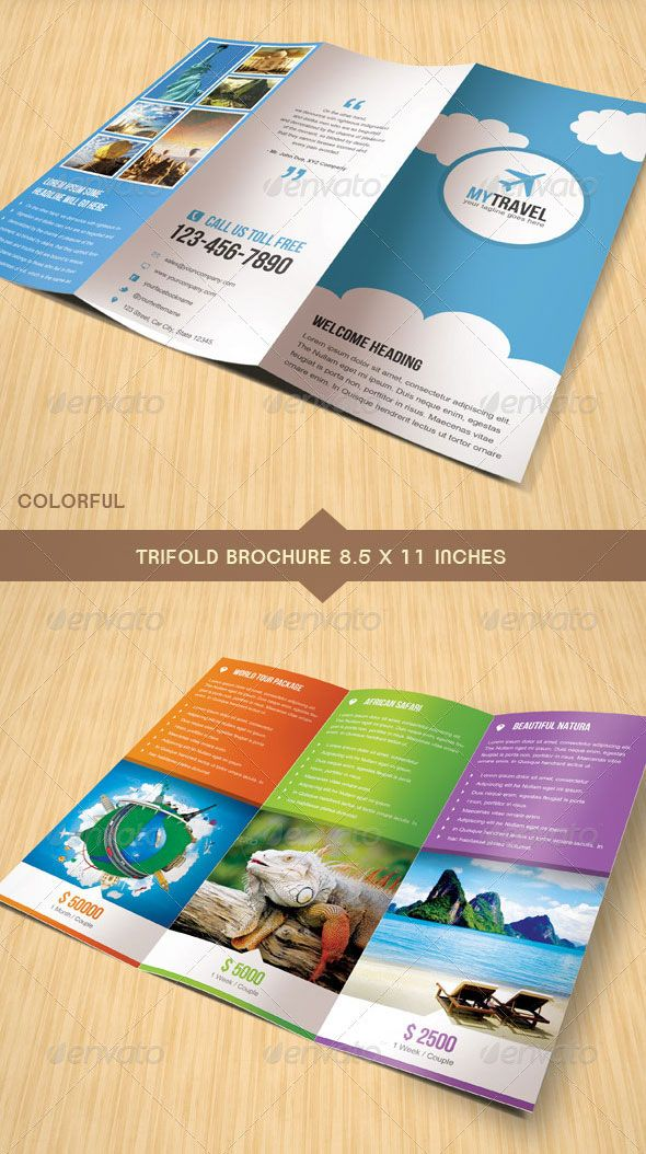 Travel business trifold brochure photoshop y m s for Travel brochures templates