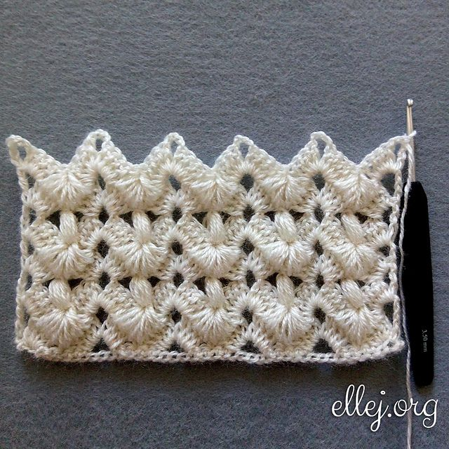 Turkish Pines Stitch Free Crochet Pattern | Free Crochet Patterns ...