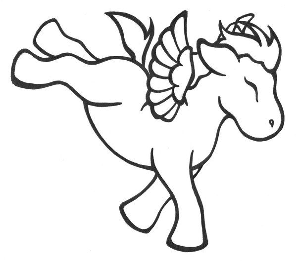 cartoon pegasus coloring pages jpg 600x529 cartoon pegasus unicorn coloring pages jpg 600x529 cartoon pegasus unicorn - Cute Baby Unicorns Coloring Pages