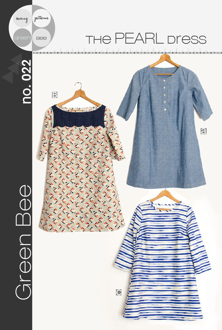 Pearl Dress Pattern by Green Bee - the scalloped yoke would be a ...
