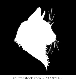 Cat Head Silhouette Images Stock Photos Vectors Shutterstock Cat Vector Black Cat Art Silhouette Images