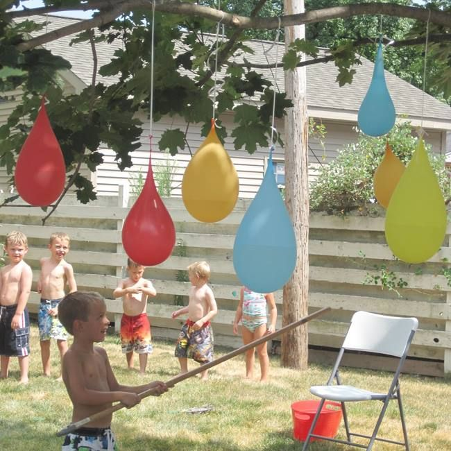 Water Balloon Pinata...these Are Awesome Backyard Games