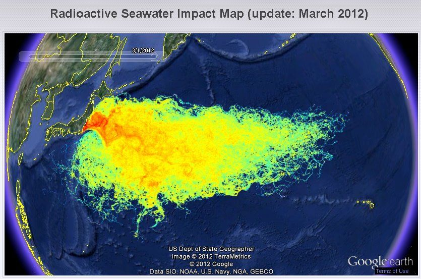 Earth map shows Fukushima radiation pollution of Pacific Ocean - Buzz.NaturalNews.com