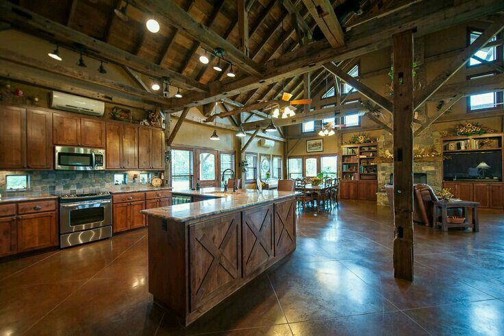 Open Concept Kitchen Pole Barn House Plans Metal Building Homes Barn House Plans