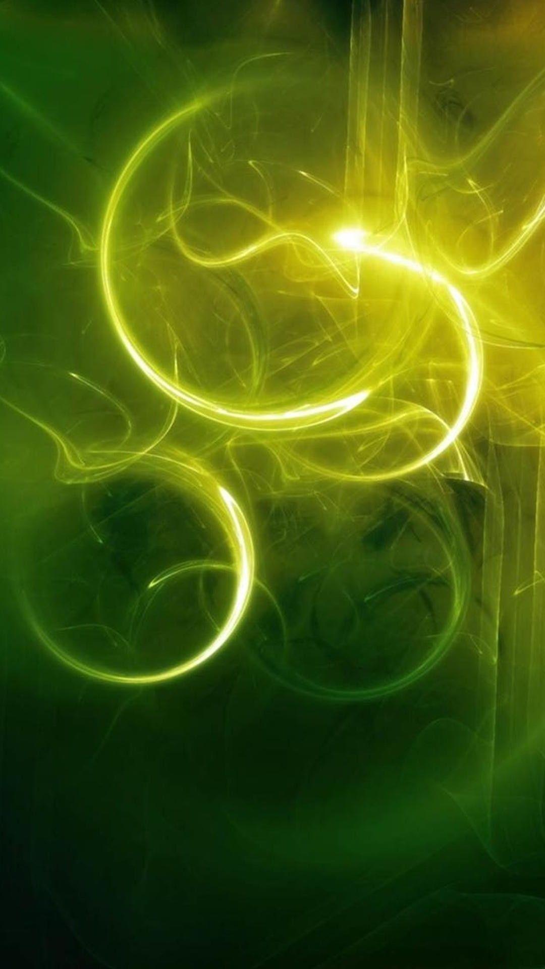 Green Light Fractal Art Circle Design Organism 壁紙