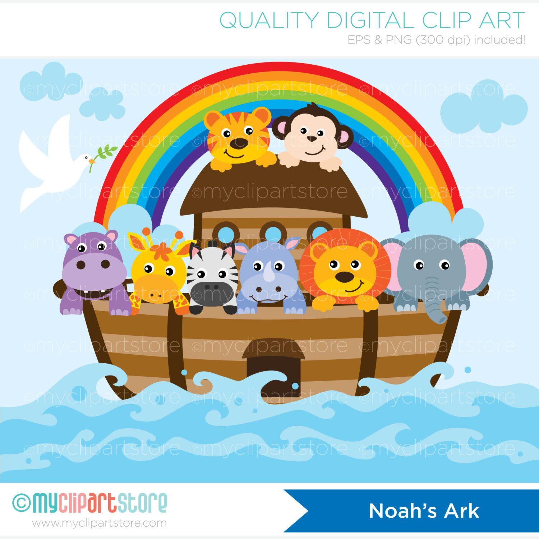 Noah S Ark Clipart Bible Stories Christian Clip Art Etsy Noahs